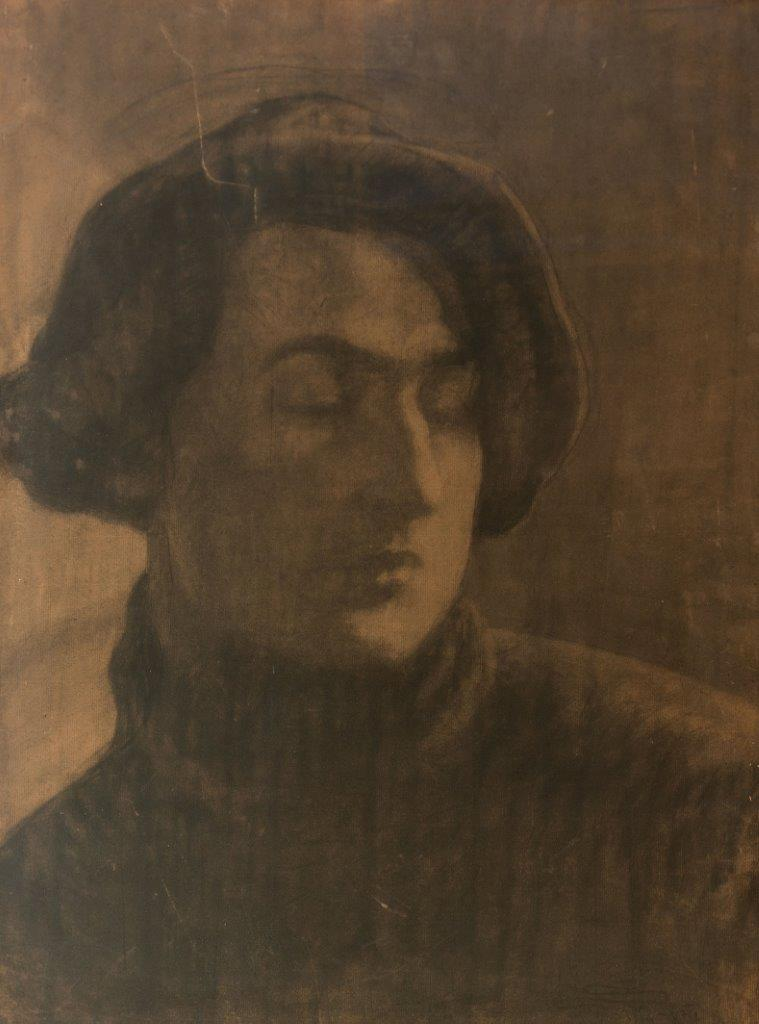 Stanislaw_Szukalski_Autoportret_pastel_papier