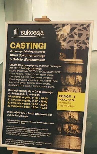 Casting do filmu dokumentalnego w Sukcesji