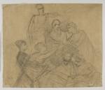 Szkic siedmiu postaci