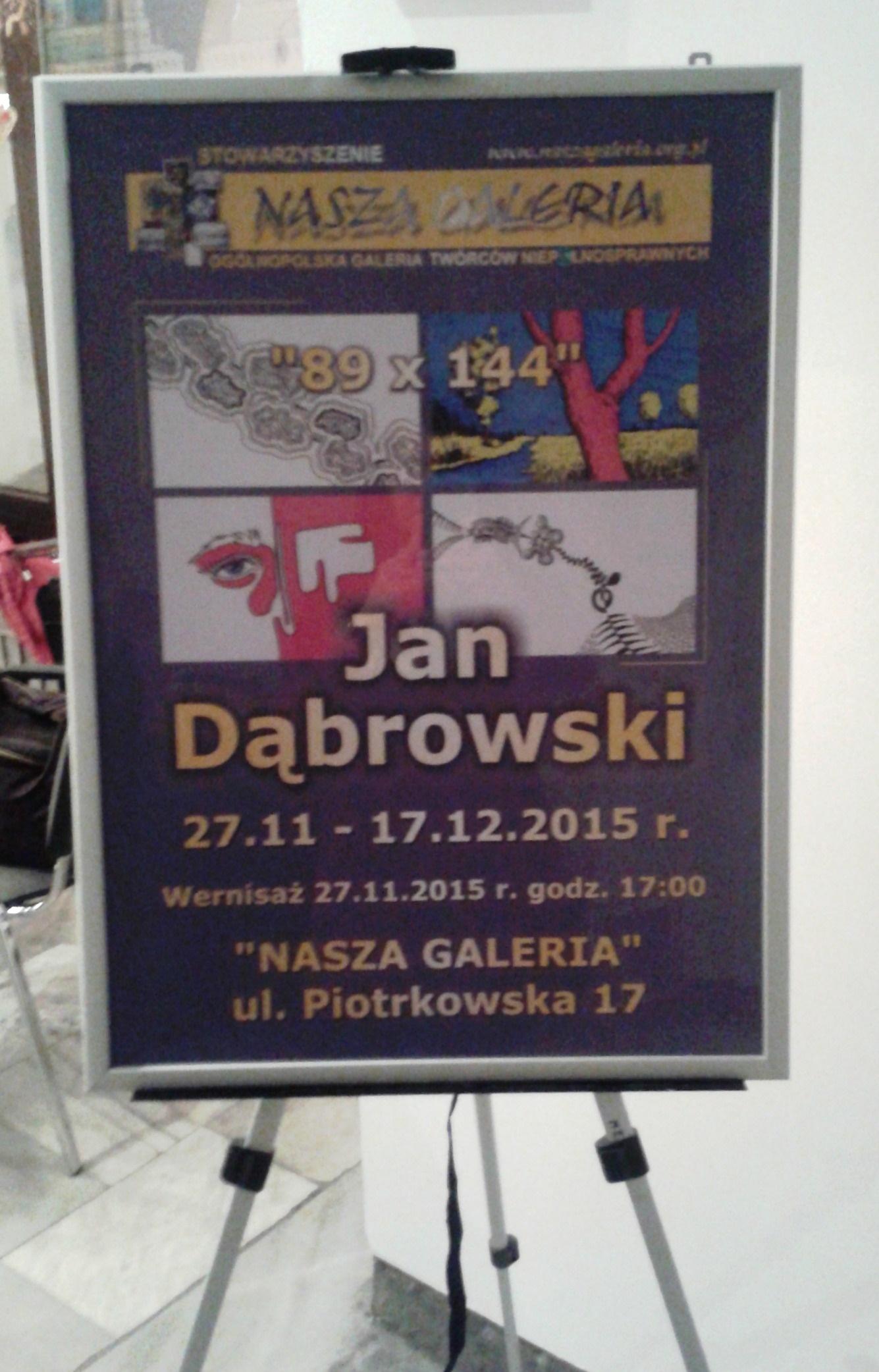 Wystawa prac Jana Dąbrowskiego w Naszej Galerii