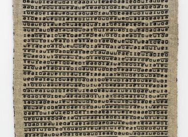 Antoni Starczewski, Recytatywy, 1981-1983, tkanina podwójna, wełna, 120 x 90 cm, kolekcja prywatna, dzięki uprzejmości Galerii 86, fot. Norbert Piwowarczyk